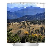 Rocky Mountain Evening Shower Curtain