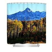 Rocky Mountain Fall Shower Curtain