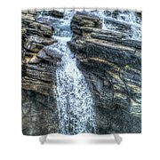 Rocky Mountain Falls Shower Curtain