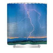 Rocky Mountain Foothills Lightning Strikes 2 Hdr Shower Curtain
