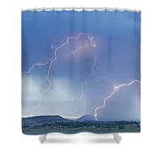 Rocky Mountain Front Range Foothills Lightning Strikes Shower Curtain