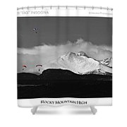Rocky Mountain High Poster Print Shower Curtain