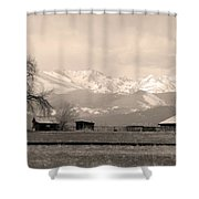 Rocky Mountain Lafayette Sepia Views Shower Curtain