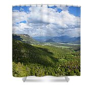 Rocky Mountain National Park Panorama Shower Curtain