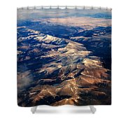 Rocky Mountain Peaks From Above Shower Curtain