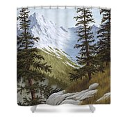 Rocky Mountain Solitude Shower Curtain