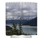 Rocky Mountain Spring Shower Curtain