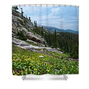 Rocky Mountain Summer Shower Curtain