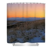 Rocky Mountain Sunset Shower Curtain