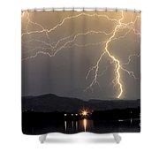 Rocky Mountain Thunderstorm  Shower Curtain