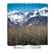Rocky Mountain Woodland Shower Curtain