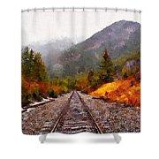 Rocky Mountaineer Shower Curtain