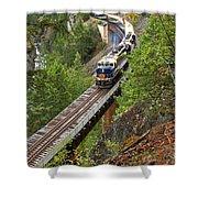 Rocky Mountaineer Railway Shower Curtain