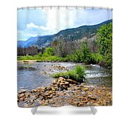 Rocky Mountains Shower Curtain