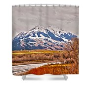 Rocky Mountains In Montana Shower Curtain
