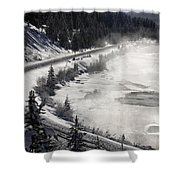 Rocky Mountains In Winter Shower Curtain