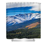 Rocky Mountains Independence Pass Shower Curtain