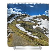 Rocky Mountains Path Shower Curtain