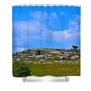 Rocky New England Hill Shower Curtain
