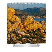 Rocky Point And Bixby Bridge Big Sur California Shower Curtain