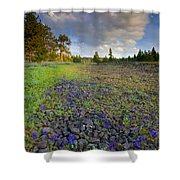 Rocky Prairie Cloud Explosion Shower Curtain