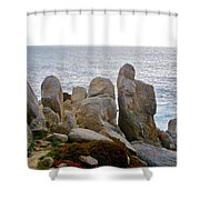 Rocky Seascape Shower Curtain