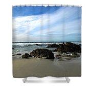 Rocky Shoreline At Spanish Bay Shower Curtain