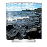Rocky Shores Of Superior Shower Curtain