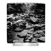 Rocky Smoky Mountain River Shower Curtain
