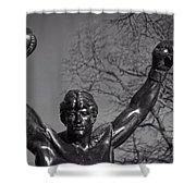 Rocky Statue Shower Curtain