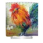 Rocky The Rooster Shower Curtain