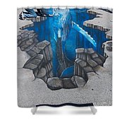 Rod Tryon Whale Shower Curtain