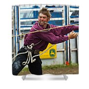 Rodeo All Strung Out Shower Curtain