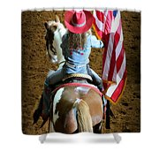 Rodeo America - Land Of The Free Shower Curtain