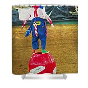 Rodeo Barrel Clown Shower Curtain