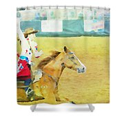 Rodeo Beauty Three Shower Curtain