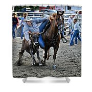 Rodeo Bulldog Shower Curtain