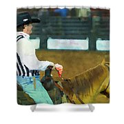 Rodeo Cowboy Referee Shower Curtain