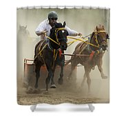 Rodeo Eat My Dust 1 Shower Curtain
