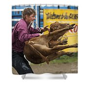 Rodeo Fit To Be Tied Shower Curtain