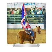 Rodeo Flag Shower Curtain