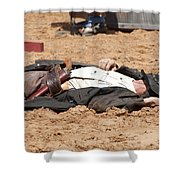 Rodeo Gunslinger Victim Color Shower Curtain