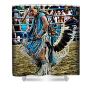 Rodeo Indian Dance Shower Curtain