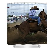 Rodeo Ladies Barrel Race 1 Shower Curtain