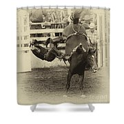 Rodeo Learning To Fly Shower Curtain