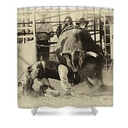 Rodeo Prepared To Be Punished Shower Curtain