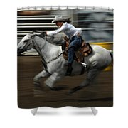 Rodeo Riding A Hurricane 1 Shower Curtain
