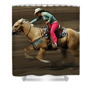 Rodeo Riding A Hurricane 2 Shower Curtain