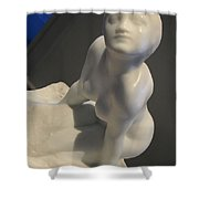 Rodin's Figure Of A Women Or The Sphinx Shower Curtain
