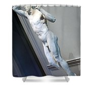 Rodin's The Vanguished -- 2 Shower Curtain